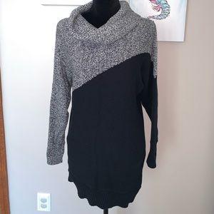 Market & Spruce Maternity cowl neck tunic sweater